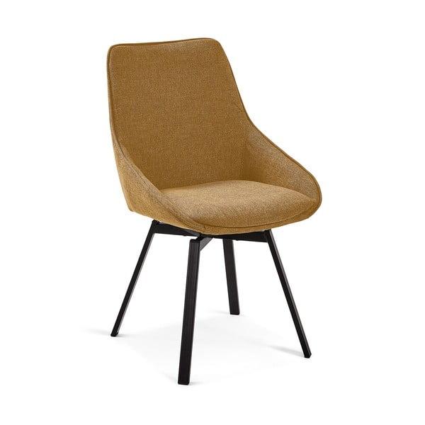 Horčicovožltá jedálenská stolička La Forma Haston