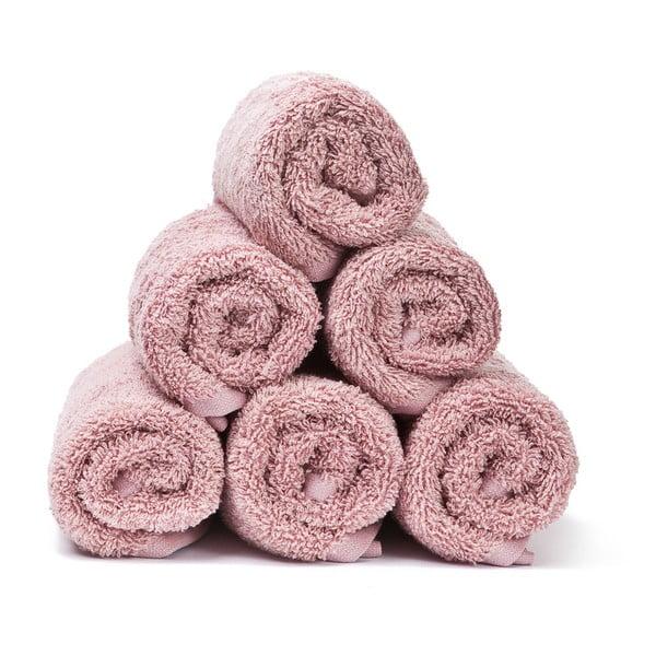 Sada 6 ružových bavlnených uterákov Casa Di Bassi Guest, 30x50cm