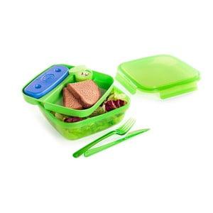 Zelený obedový box s príborom a chladičom Snips Lunch