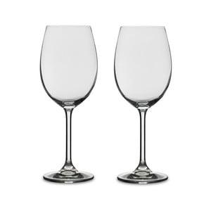 Sada 2 pohárov na biele víno z krištáľového skla Bitz Fluidum, 450 ml