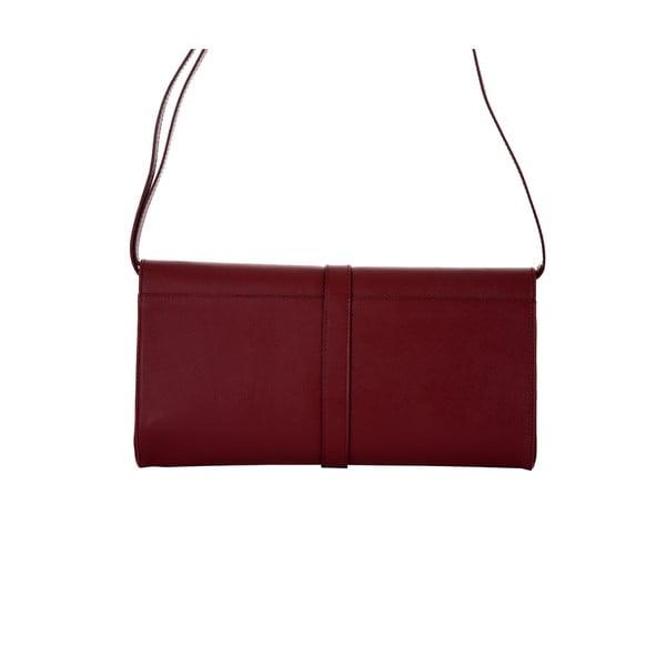 Rubínovočervená kožená kabelka Andrea Cardone Calandra