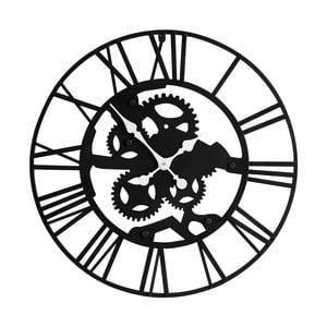 Nástenné železné hodiny Black Iron
