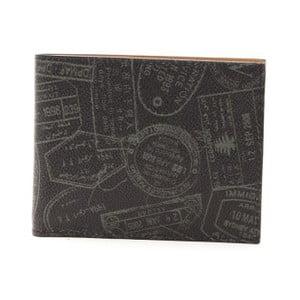 Čierna dámska kožená peňaženka Alviero Martini Basso Mento