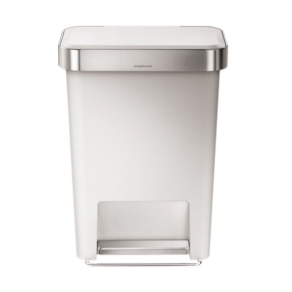 Pedálový kôš na odpadky Pocket 45 l, biely