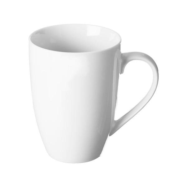 Biely hrnček z porcelánu Price&Kensington Simplicity Barrel, 375 ml