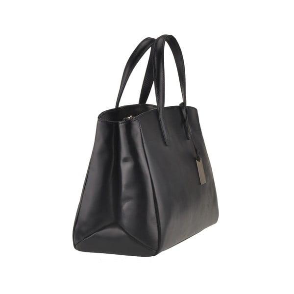 Kožená kabelka Emilio Masi Propus, čierna