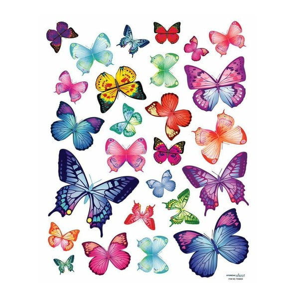 Sada 26 samolepiek Ambiance Exotic Butterflies