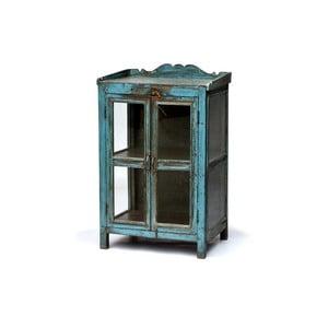 Presklená skriňa Goa 65x102 cm, modrá patina