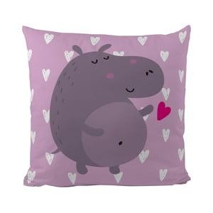 Vankúš Hippo in Love, 50x50 cm