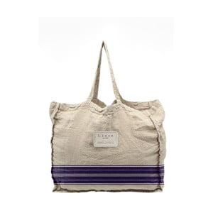 Látková taška Linen Blue Stripes, šírka 50 cm
