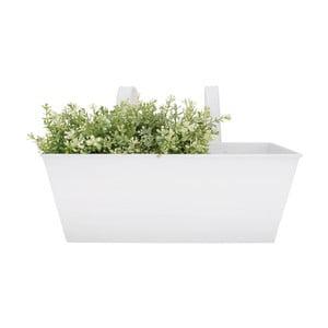Biely zinkový závesný kvetináč Esschert Design