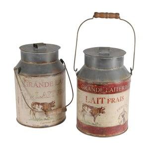 Sada 2 dekoratívnych džbánov na mlieko Milk Jar