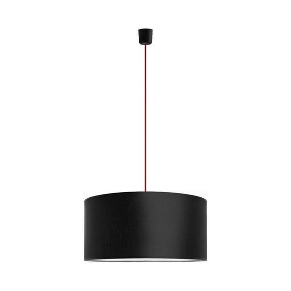 Závesné svietidlo Tres 50 cm, červená/čierna