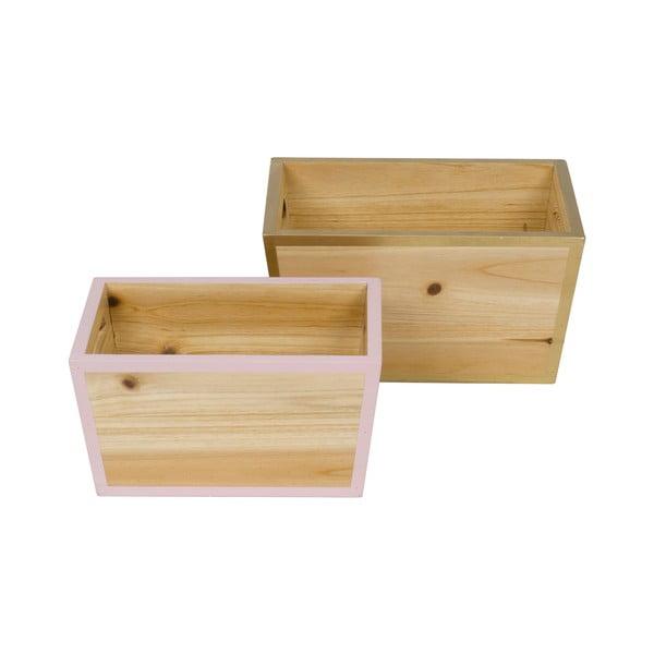 Sada 2 drevených organizérov Tri-Coastal Design Stockholm