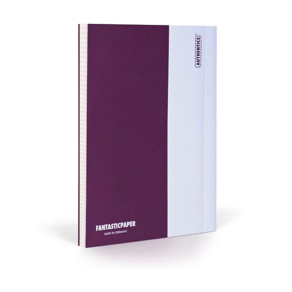 Zápisník FANTASTICPAPER XL Aubergine/White, štvorčekový