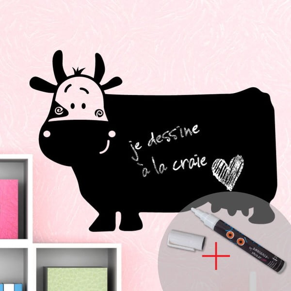 Tabuľová samolepka s tekutou kriedou MaDéco Funny Cow