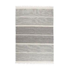 Sivomodrý ručne tkaný vlnený koberec Linie Design Reita, 140×200cm