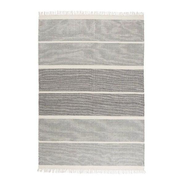 Sivomodrý ručne tkaný vlnený koberec Linie Design Reita, 160×230cm