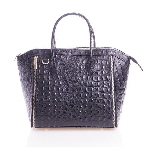 Kožená kabelka Marina, modrosivá