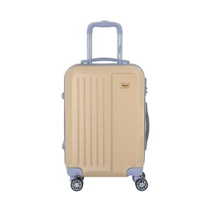 Cestovný kufor na kolieskách v béžovej farbe s kódovým zámkom SINEQUANONE Iskra, 44 l