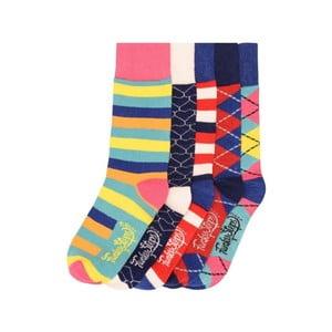 Sada 5 párov farebných ponožiek Funky Steps Kristen, veľ. 35-39