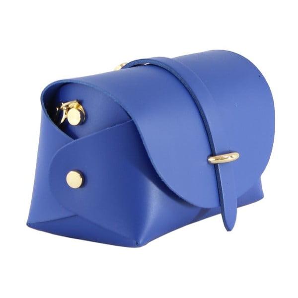 Kožená kabelka cez rameno Slaygie, modrá