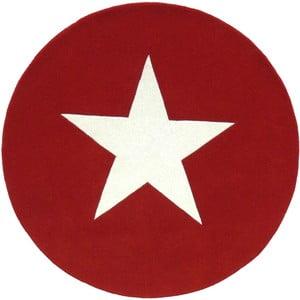 Vlnený koberec Star Red, 130 cm