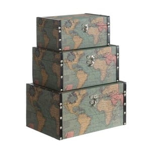 Set 3 boxov Cosas de Casa Mapa sveta
