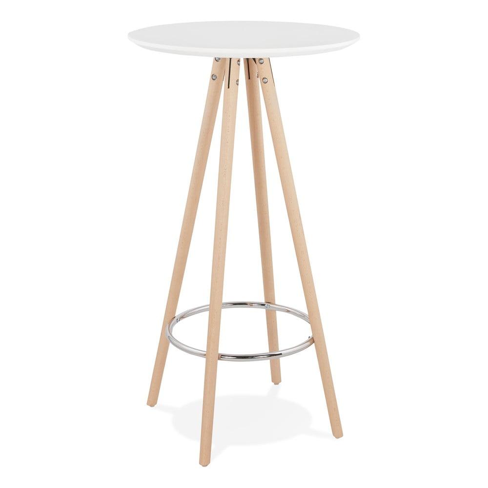 Biely barový stôl Kokoon Deboo, výška 110 cm