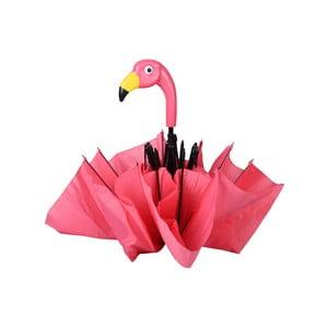 Ružový skladací dáždnik Ego Dekor Flamingo, ⌀ 96,5 cm
