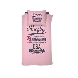 Obliečky Rugby Pink, 140x200 cm