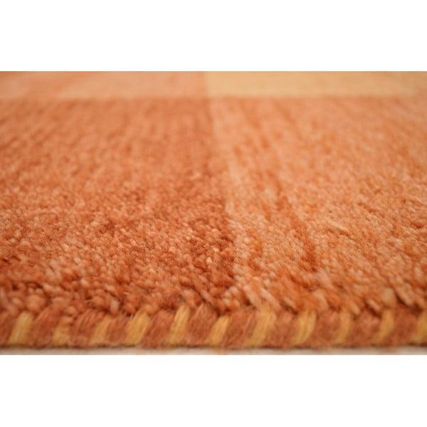Vlnený koberec Baku Box Terra, 70x140 cm