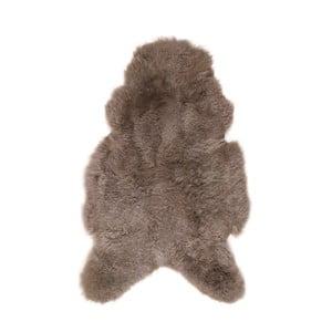 Sivohnedá ovčia kožušina s krátkym vlasom, 100 x 60 cm