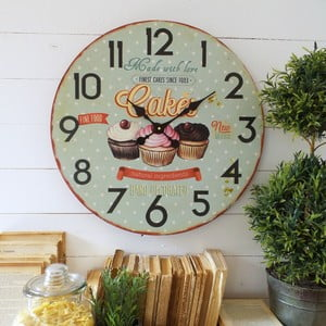 Nástenné hodiny Orchidea Cupcakes