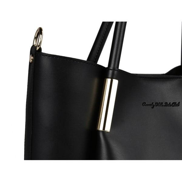 Čierna kabelka z eko kože Beverly Hills Polo Club Frederica
