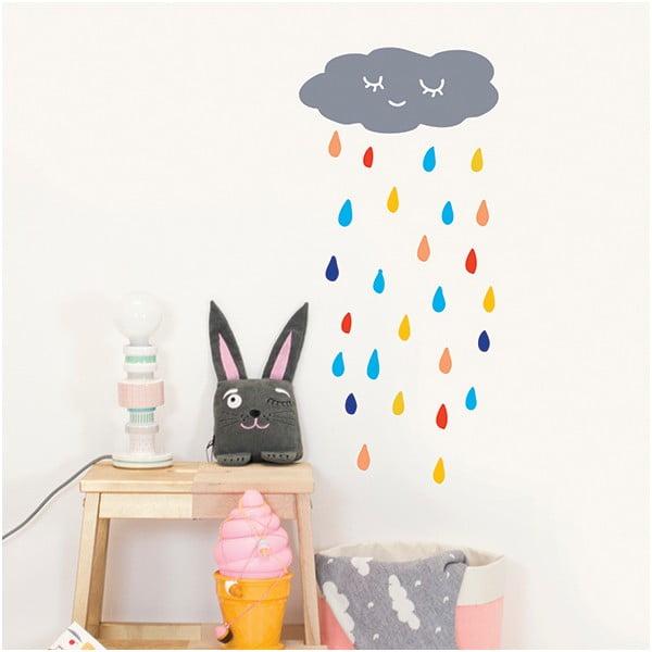 Dekoratívna samolepka na stenu Rain