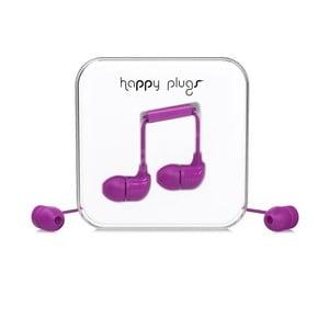 Slúchadlá s nadstavcami Happy Plugs, fialové