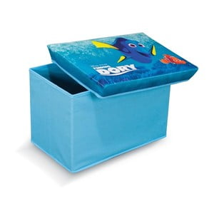 Modrá úložná taburetka na hračky Domopak Finding Dory, dĺžka49 cm