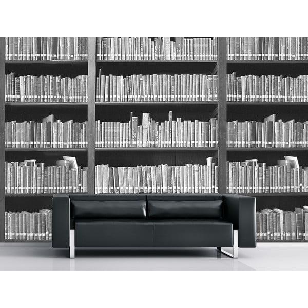 Veľkoformátová tapeta Čiernobiela knižnica, 315x232 cm