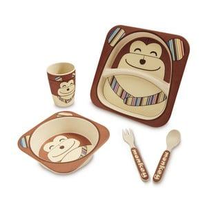 Detský jedálny set z bambusu Navigate Chimp