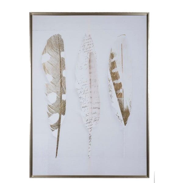 Obraz s motívom pierok J-Line, 100x140 cm