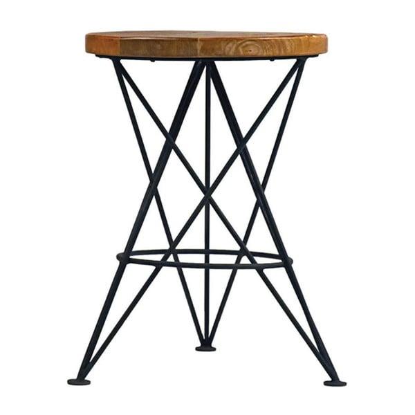 Stolička s doskou z mangového dreva LABEL51 Paris