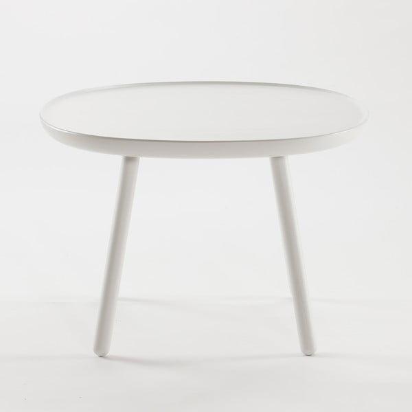 Biely odkladací stolík z masívu EMKO Naïve Large