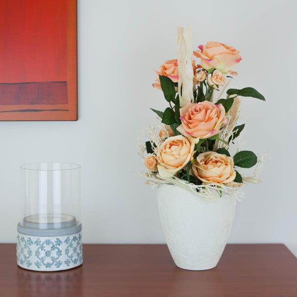 Kvetinová dekorácia od Aranžérie, veľké oranžové ruže
