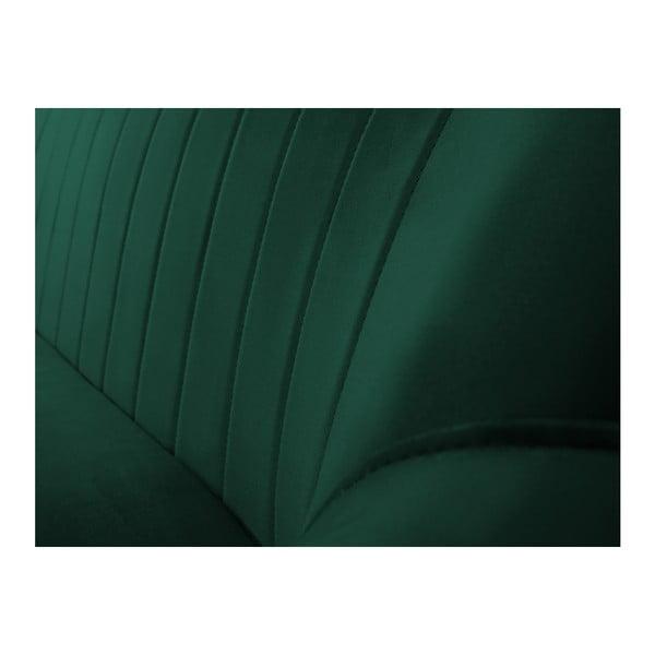Zelená trojmiestna pohovka s čiernymi nohami Mazzini Sofas Benito