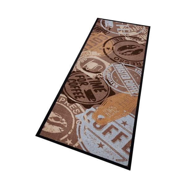 Hnedý kuchynský behúň Zala Living Coffee Stamp, 50×150cm