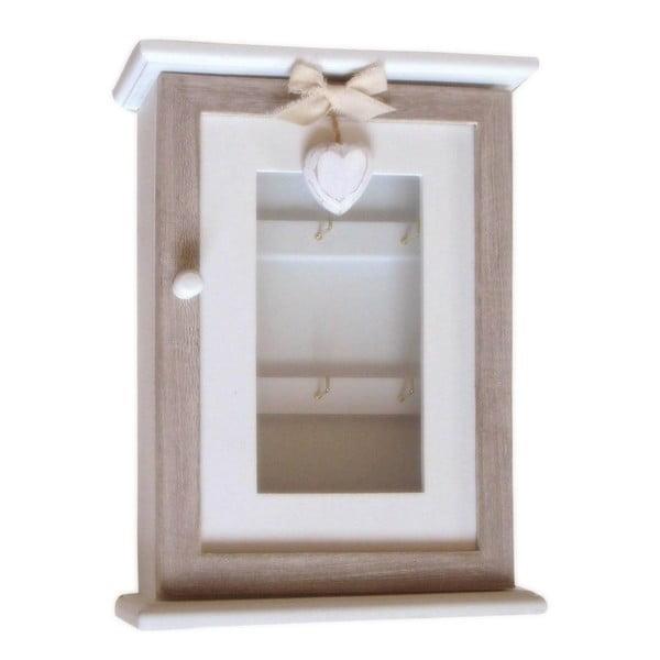 Nástenná krabička na kľúče Bolzonella so srdiečkom