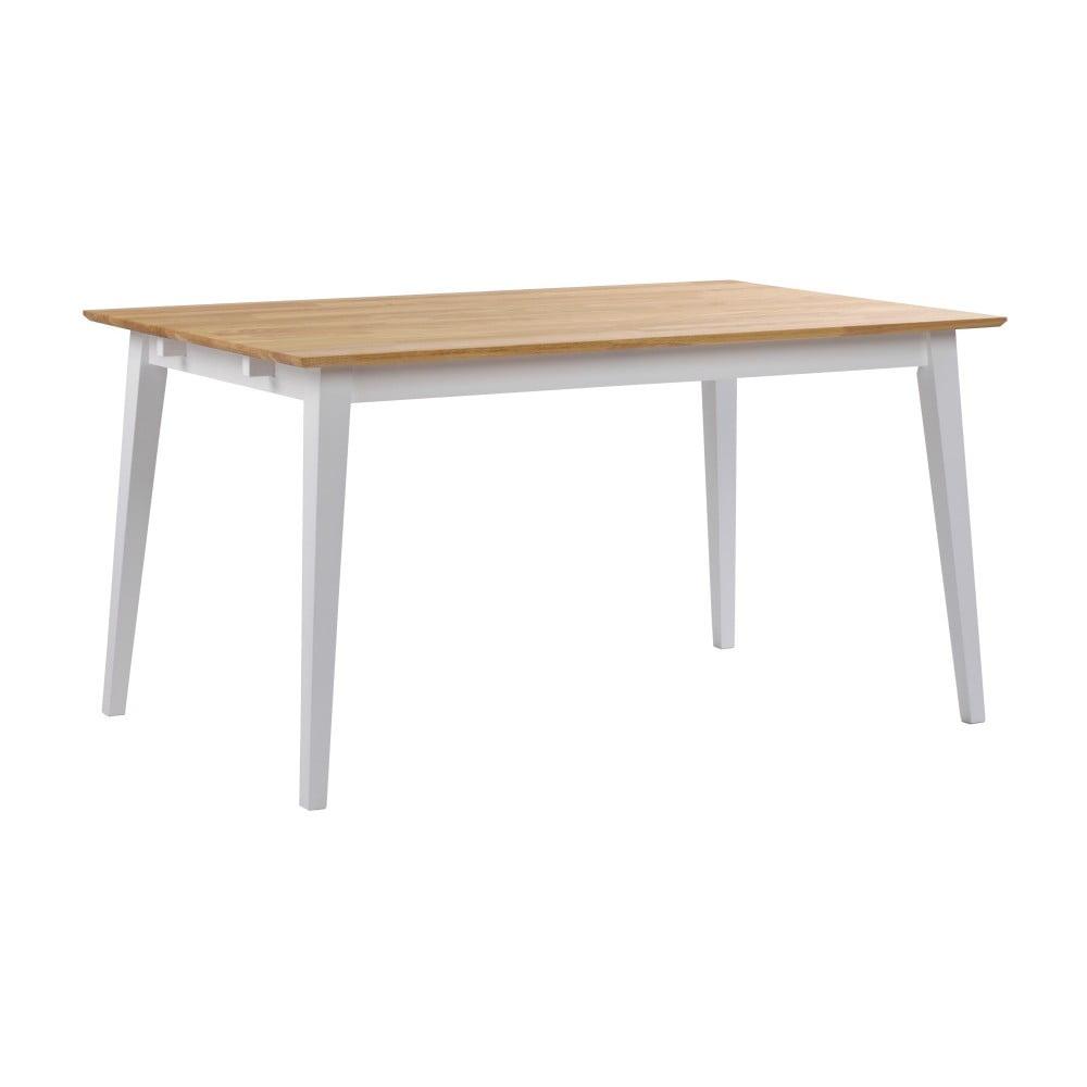 Dubový jedálenský stôl s bielymi nohami Rowico Mimi, 140 x 90 cm