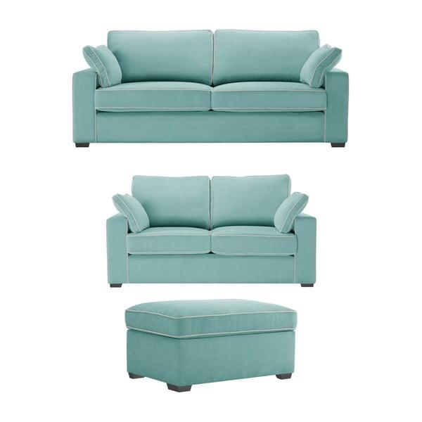Trojdielna sedacia súpravaJalouse Maison Serena, mentolová