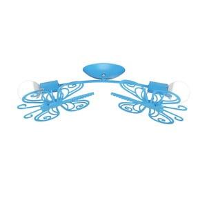 Modré stropné svietidlo Light Prestige Double Butterfly